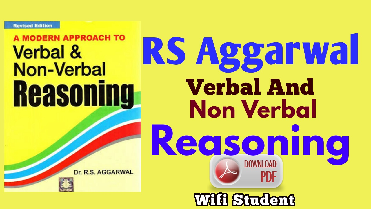 RS Aggarwal reasoning book pdf