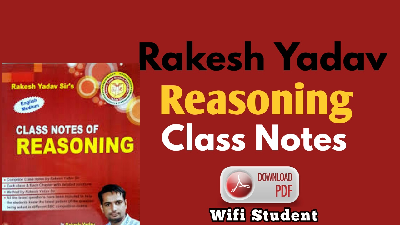Rakesh Yadav Reasoning Book in Hindi Pdf Free Download