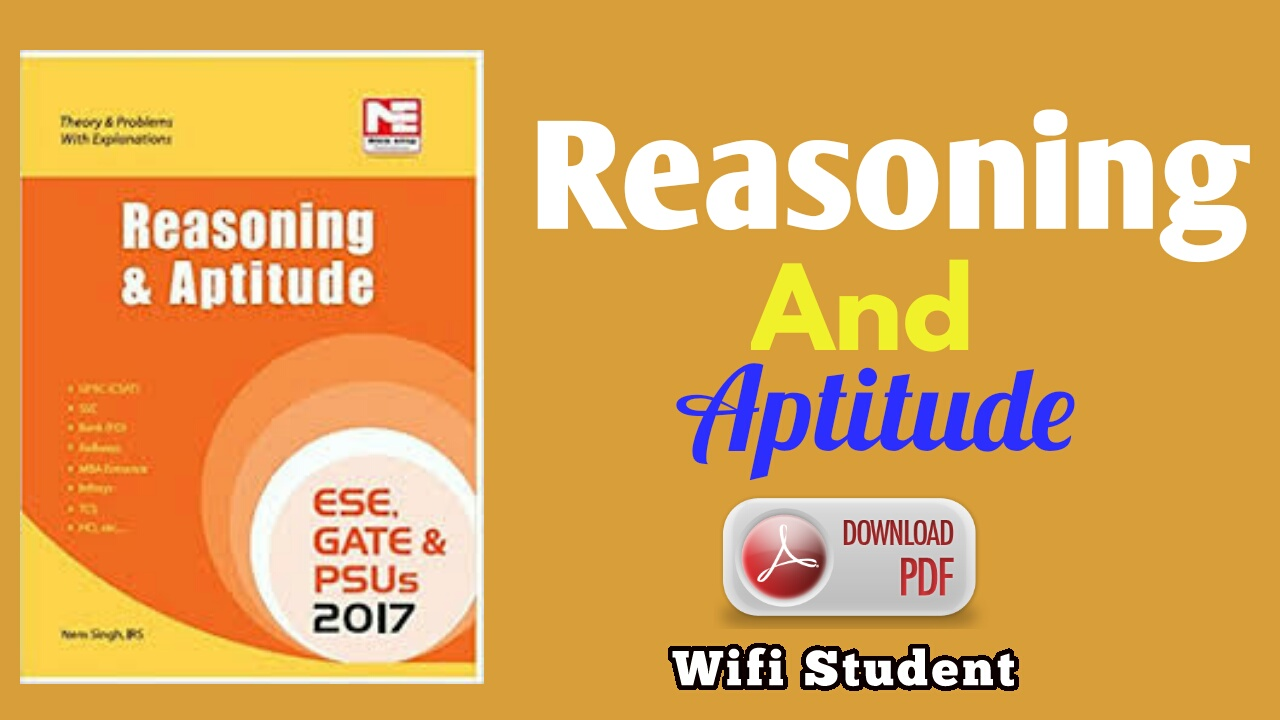 Reasoning and Aptitude Book Pdf download