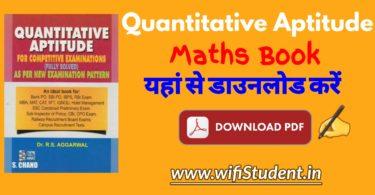 Quantitative Aptitude Book Pdf