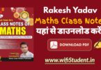 Rakesh Yadav Class Notes Pdf