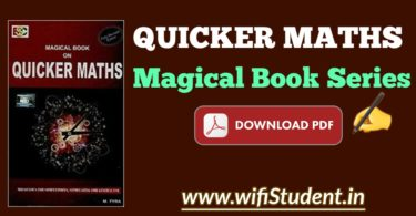 Magical Book on Quicker Maths pdf download: Quicker Maths by M Tyra Pdf