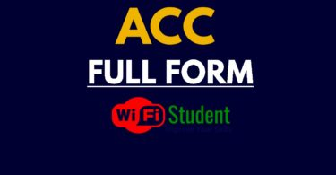 What is the Full Form of ACC, ACC Full Form