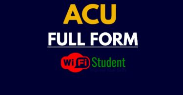 What is the Full Form of ACU, ACU Full Form
