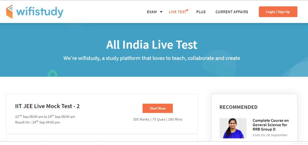 Current Affairs, Test Series, Mock Test, Live Classes